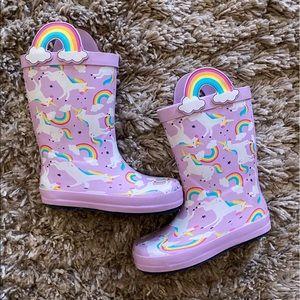 Cat & Jack Toddler Unicorn & Rainbows Rainboots